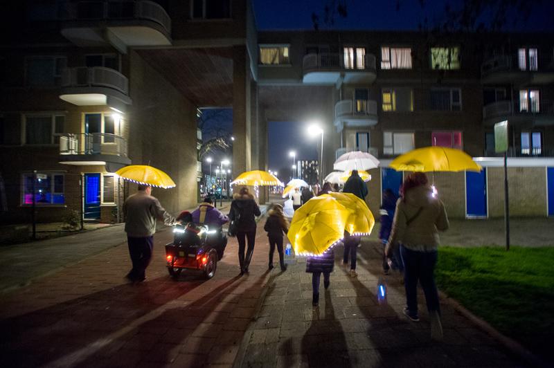 Nederland, Rotterdam, 26-02-2016. Lichtlab in Oosterflank. Powerboat organiseert een lichtlab in R'dam Alexanderpolder. © Foto: Erno Wientjens.
